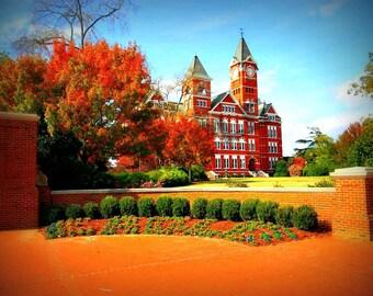 Samford Hall in Autumn Photograph, Auburn