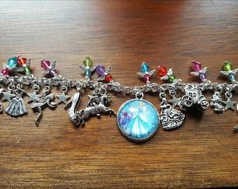 Disney cinderella inspired charm bracelet