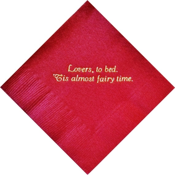 Items Similar To Personalized Napkins Wedding Engagement Cheap Custom Printed Monogrammed