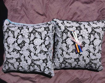 Butterfly themed Colour me pillow.