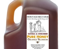 3 lb Jug of Pure Raw Orange Blossom Honey ~ RAW ~ UNFILTERED ~ UNHEATED