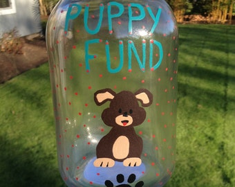 Puppy Fund Money Jar
