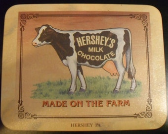 1991 Hershey Cow Milk Chocolate Made On The Farm Vintage Sign