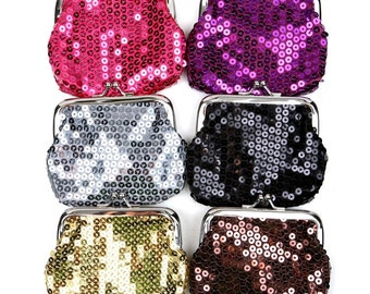 Vintage 50s Style Sequined Coin Purse