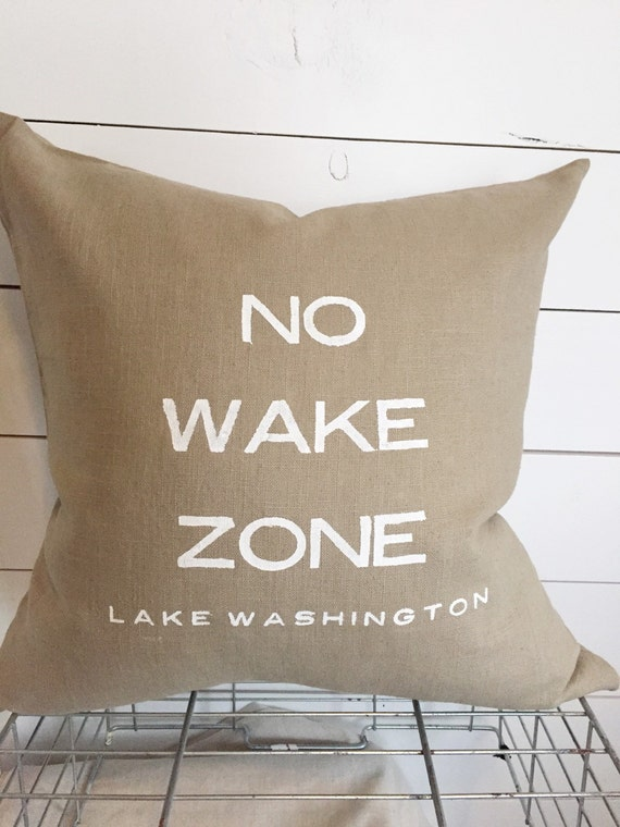 No wake zone pillow 20 x 20 home decor cushion by for Home decor zone