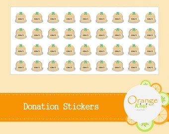 Donation Stickers - Planner Stickers