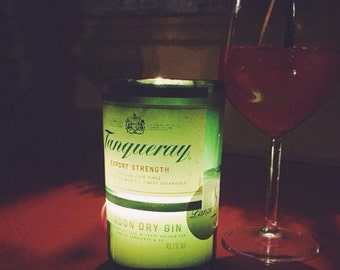 Tanqueray gin handmade candle