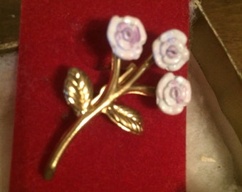 Pink Rose Brooch