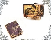 WITCH Dollhouse Miniature Book –1:12 Witch Miniature Book Halloween Book -Magic Dollhouse Halloween Miniatures Witch Book Printable DOWNLOAD