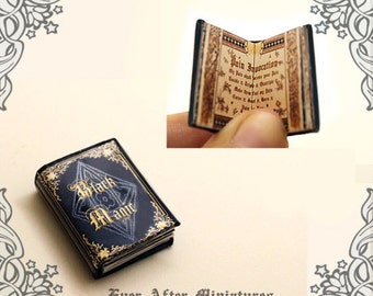 Black Magic Dollhouse Miniature Book – 12th Scale OPENABLE Dollhouse Miniature Book with READABLE Black Magic Spells - Printable DOWNLOAD