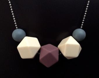 Silicone Necklace - Plum