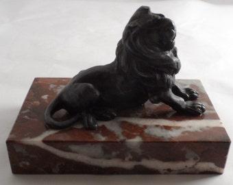Vintage Lion bookends