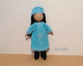 Big Sister Amelia - Pocket Doll - Bendy Doll