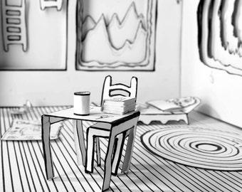 Art Photography of 3D paper world