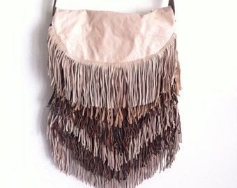 Multicolored Fringe leather new designer bag.
