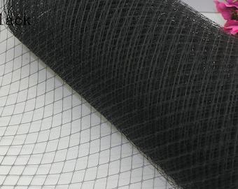 Birdcage Veil Net wedding blusher netting, fascinators and millinery 1 yard Black, accesorrize, hat trim