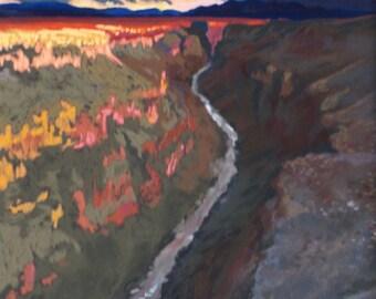 Storm over Taos Canyon