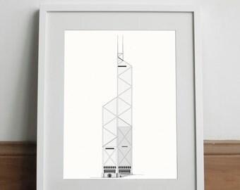 Bank of China Hong Kong White Edition - Art print