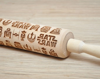Star wars pattern Embossed Rolling Pin Engraved rolling-pin