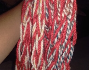 Red Multicolored Infinity Scarf