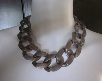 1980's Oversized Anne Klein Chain Necklace