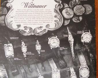 Longines Wittnauer Watch Ad. 1953 Vintage Longines Wittnauer watch ad.  Black and white.  Life Magazine.  November 9, 1953.