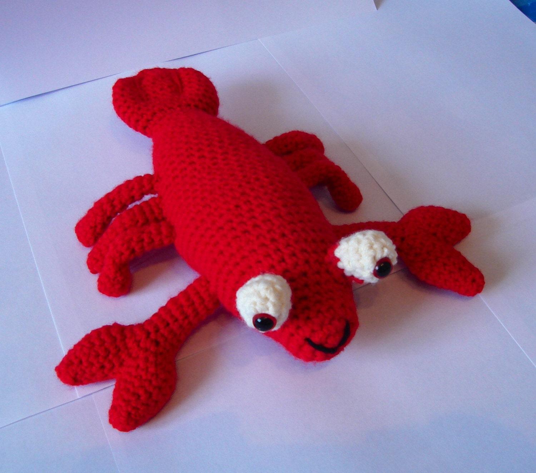 Crochet Lobster Amigurumi Lobster Red Lobster Handmade