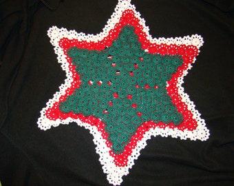 Christmas Stars - Hand-crocheted doilies