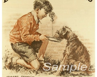 Vintage Be Kind to Animals Poster Print
