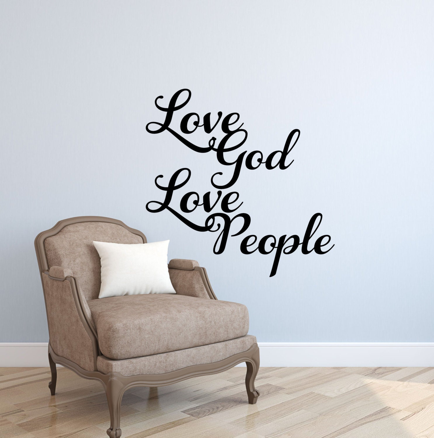 Love god love people wall decal quote wall zoom amipublicfo Image collections