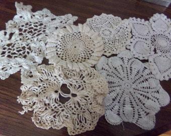 Vintage Doilies set of 6