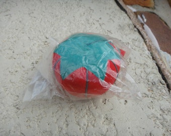 Old Sewing Tomato Pin Cushion Red