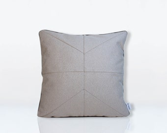 cushion Charles Grey beige 40 x 40 cm