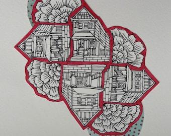 Original Little House Drawing