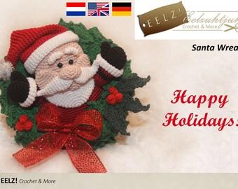 Santa Wreath - Crochet Pattern