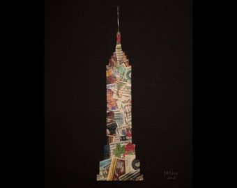 Empire State Building - Postage Stamp Collage