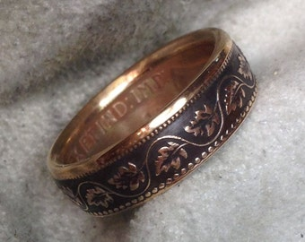 Vintage Canadian Large Cent Ring