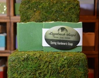 Spring Gardener's Soap - organic, handmade, all natural, cold process, vegan