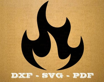 Format .dxf tribal flame fire - CNC cutting file - Vector vinyl - DXF SVG Pdf file - Cricut