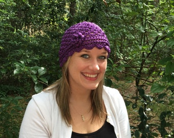 Vintage Inspired Open Weave Beanie
