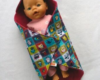 Shawl/Cape/wrap cloth Owl for doll BABY BORN (handmade)