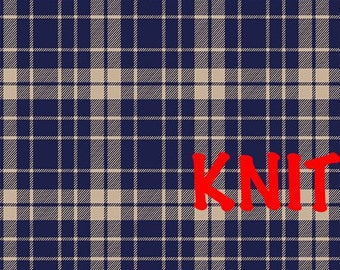 School Plaid Knit Fabric from Bolt Pure Vintage Collection
