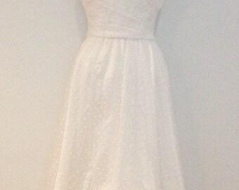 Vintage White Polka-Dot Dress