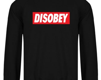 Disobey V For Vendetta Anonymous Mask Guy Fawkes Inspired Mask Revolution  Sweatshirt
