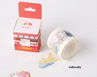 Travel Transport Vehicle Japanese Washi Tape Masking Tape