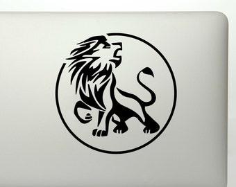 Leo lion zodiac design die cut vinyl decal sticker/ Zodiac astrology Leo lion decal for cars, laptops, yeti stickers, etc.