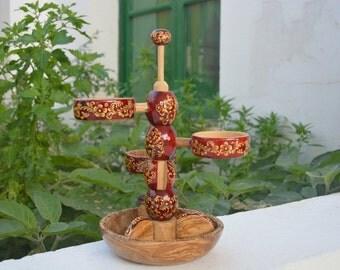 APPETIZER SERVING - WOODEN appetizer plates - appetizer plates in handmade - Wooden appetizer dish - Wood appetizer plates