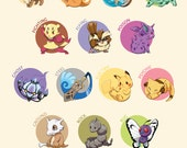 Pokemon Type Chart Infographic | pokemon poster, pokemon print, nintendo poster, video game poster, pokemon art, anime poster, gamer decor