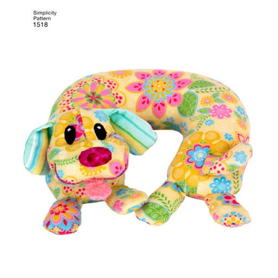 Animal Neck Pillow Pattern Free : Sewing Pattern for Child s Animal Neck Pillows , Simplicity 1518, Travel Pillow for Children ...