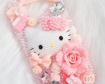 READY TO SHIP Samsung Galaxy s6 Pink Pearl Kitty Decoden Case
